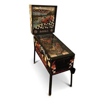 Checkpoint with Turbo-Boost Pinball Machine by Data East classic car