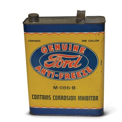 """Genuine Ford Anti-Freeze"" One Gallon Flat Metal Can classic car"