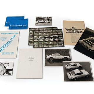 1973 Porsche 911 Carrera RS Supplement Manuals, Brochures, Press Photographs