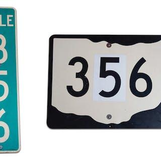 Pair of 356 Road Signs classic car