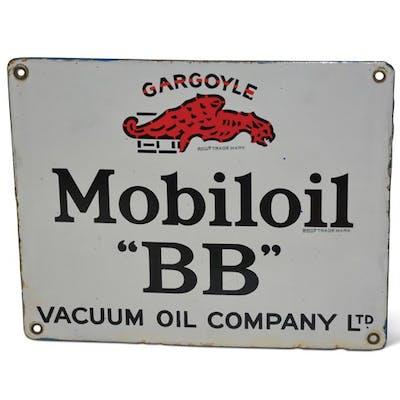 """Gargoyle Mobiloil BB"" Porcelain Sign classic car"