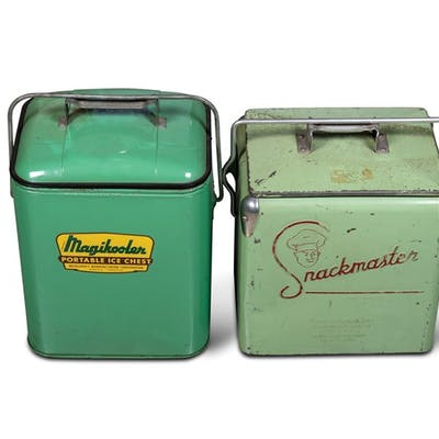 Snackmaster Cooler and Magikooler Portable Ice Chest classic car