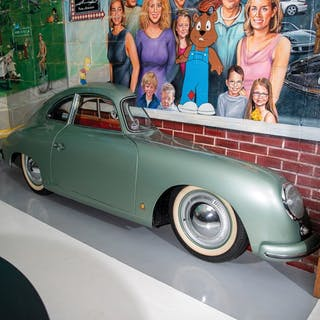 Porsche 356 Passenger Side Display classic car