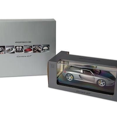 Pair of Porsche Carrera GT Models, 1:12 Scale classic car