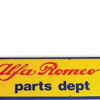 Alfa Romeo Parts Dept. Sign classic car