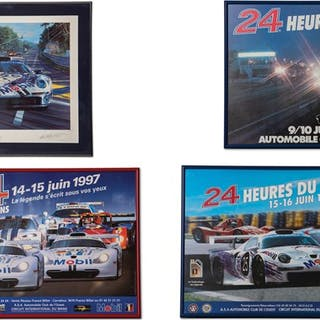 Porsche 24 Hours of Le Mans Framed Posters and Artwork classic car
