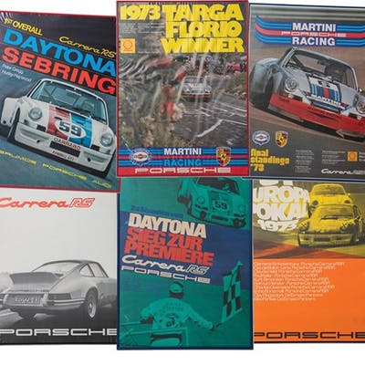 1973 Porsche 911 Carrera RS and RSR Framed Posters classic car