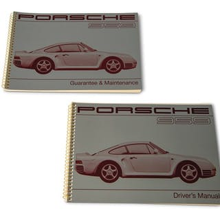 Porsche 959 Driver's Manual and Guarantee & Maintenance Booklet classic car