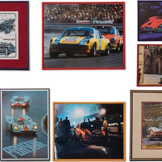 Porsche Racing Posters and Photographs classic car