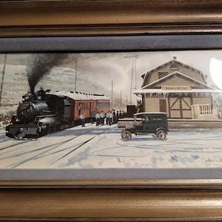 Maupin Depot, Oregon Trunk Railway by Ken Eberts classic car