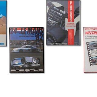 Porsche Racing Framed Posters classic car
