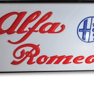 Alfa Romeo Large Lighted Sign classic car