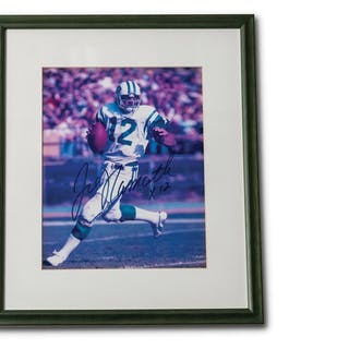 Joe Namath Autographed Framed Photograph classic car