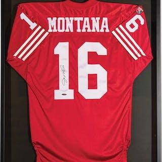 Joe Montana San Francisco 49ers Autographed Jersey classic car