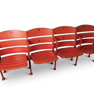 Box Stadium Seats from Crosley Field, 5-8 classic car