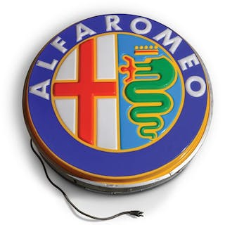 Alfa Romeo Dealership Small Sign classic car