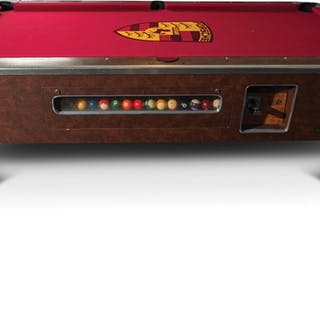 Valley Panther Black Cat Coin-Operated Pool Table classic car