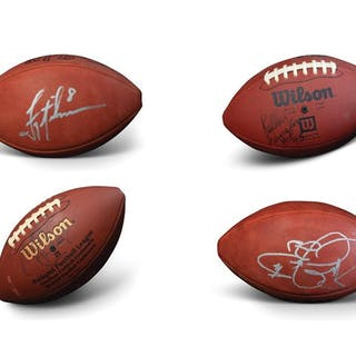 NFL Autographed Footballs, Including Hall of Famer Kellen Winslow classic car