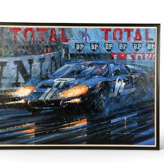 Ford GT40 - Le Mans 1966 by Nicholas Watts classic car