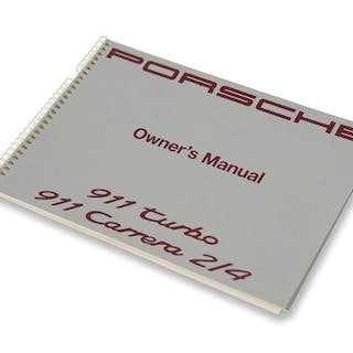 Porsche 911 Turbo and Porsche 911 Carrera 2.4 Owner's Manual classic car