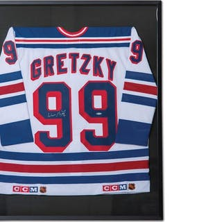 Wayne Gretzky New York Rangers Autographed Jersey classic car