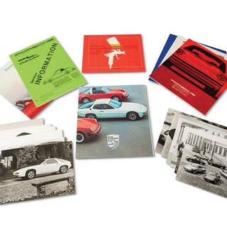 Porsche Brochures and Press Photographs classic car