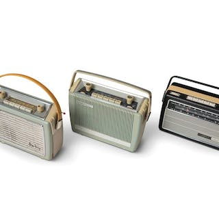 Three Travel Radios classic car