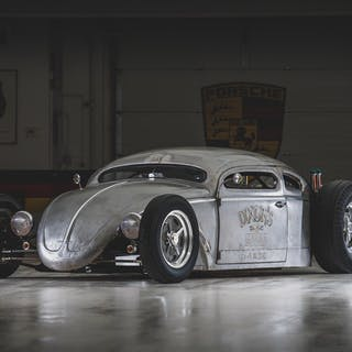 "1956 Volkswagen Beetle Outlaw ""Death"" by Franz Muhr classic car"