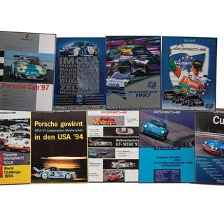 Porsche Cup Racing Framed Posters classic car