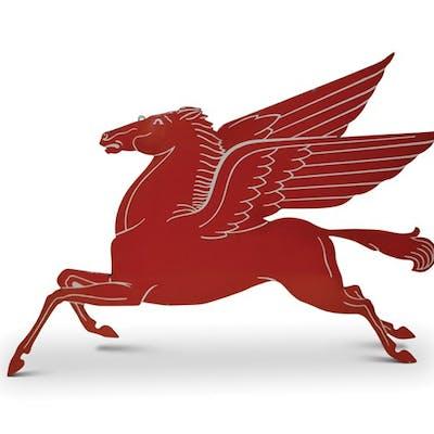 Pegasus 'Mobil' Porcelain Sign classic car