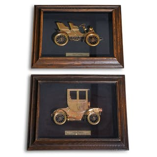 Pair of Cadillac Art Pieces  classic car