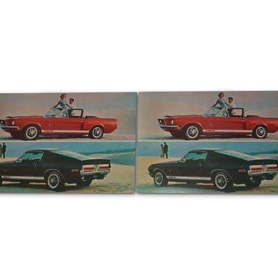 Original Ford Mustang Cobra GT 350/500 Shelby Postcards classic car