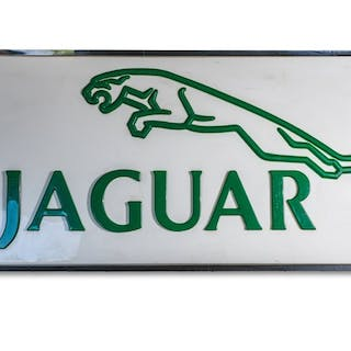 Jaguar Dealership Large Sign  classic car
