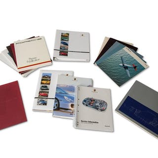 Porsche Press Information Kits classic car