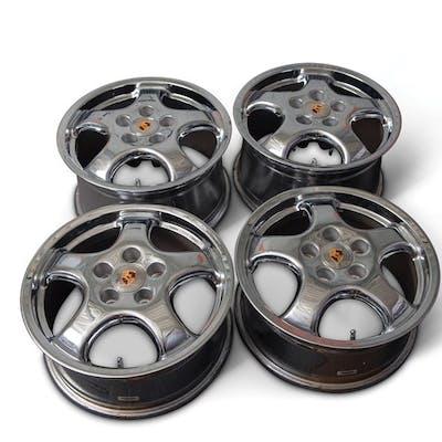 Set of Four Porsche Cup 1 Chrome Wheels classic car