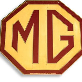 MG Double-Sided Sign classic car