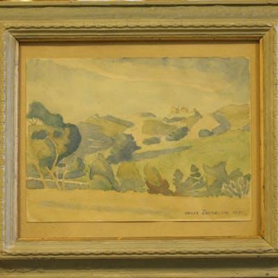 Jocke Åkerblom - Akvarell, Motiv från Korsika