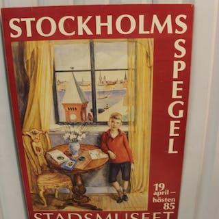"Stockholms Stadmuseet Plansch ""Arvid Fougstedt"" -1985"