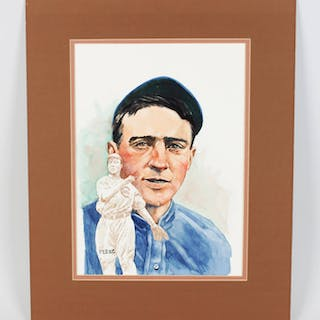 1980's Perez Steele Artwork Johnny Evers Cubs