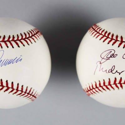 Joe Torre, Rudy Guiliani (Mayor) ; Don Zimmer Signed Baseballs Yankees