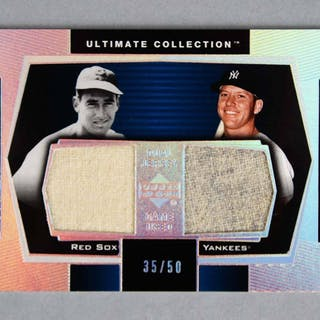 2003 Ultimate Collection Ted Williams Mickey Mantle Dual Game-Used