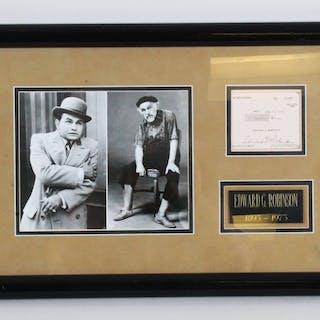 Edward G. Robinson Signed Check Display – COA JSA