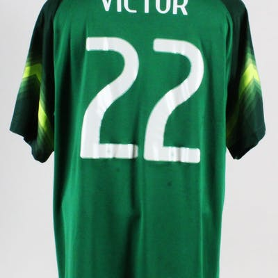 huge discount 9891f 90c3f 2014 World Cup Victor Game Worn Jersey Brazil National Team ...