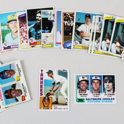Vintage Baseball Card Lot (25) Cal Ripken Jr. & Don Mattingly Rookie