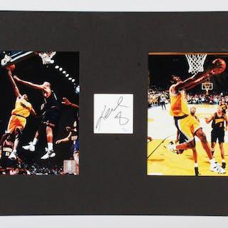bae2701b7978 Kobe Bryant Signed Cut Photo Display Lakers – COA JSA
