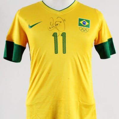 Neymar Game-Issued Brazil Jersey Signed 2012 Olympics – COA JSA