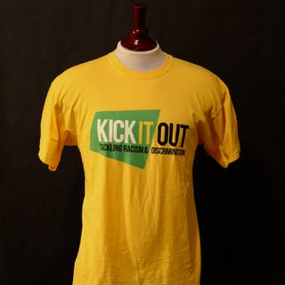 "d539c6be8d Liverpool FC Game-Used ""Kick It Out"" Anti Racism Campaign Pre-Match"