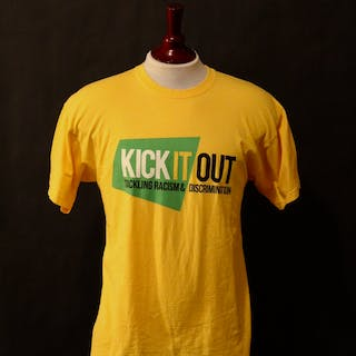 "c7cee6ab6 Liverpool FC Game-Used ""Kick It Out"" Anti Racism Campaign Pre-Match"