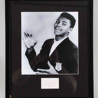 Muhammad Ali Signed Cut Photo Display – COA JSA