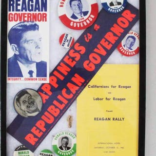 Ronald Reagan Pin Collection Election Buttons